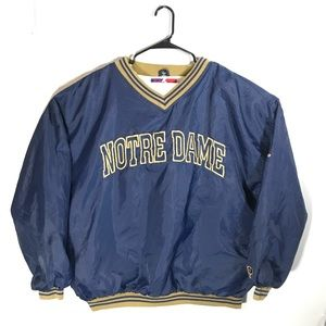 Vintage Pro Player Notre Dame V-Neck Windbreaker